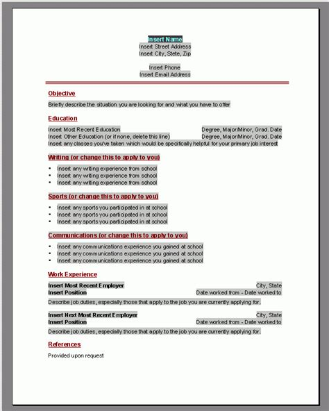 Microsoft Resume Templates by How To Do A Resume On Microsoft Word 2010 Resume Sle