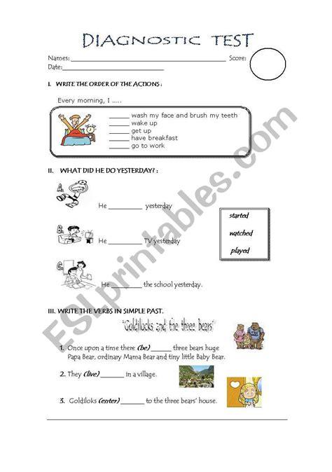 test primary school esl worksheet by aniluza