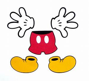 Mickey Mouse clipart pants - Pencil and in color mickey ...