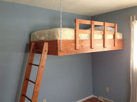 how to make a suspended bed download hanging loft bed plans plans free