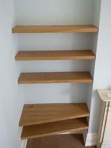 Oak & Cherry Shelves » Richard Sothcott Brighton Carpentry