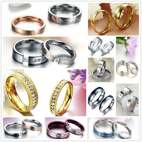 stainless steel rings promise wedding bands comfort fit