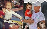 America's action star Bruce Willis and his family