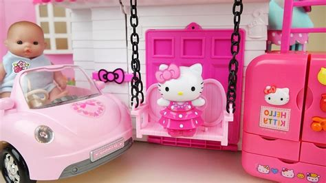 Hello Kitty Swing House Baby Doll Kitchen And Car Toys