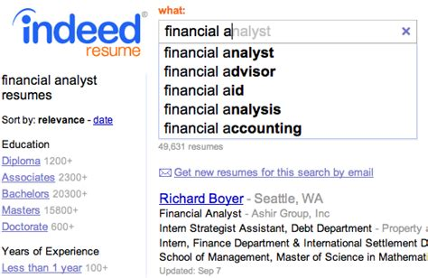 Indeed Resume Search by Fast Simple Free Resume Search Indeed