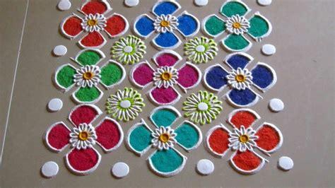 easy  quick rangoli design simple craft ideas