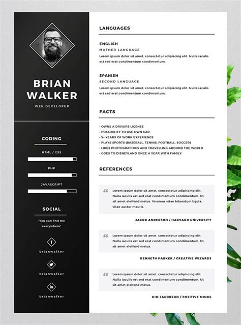 Free Resume Template For Word by 10 Best Free Resume Cv Templates In Ai Indesign Word