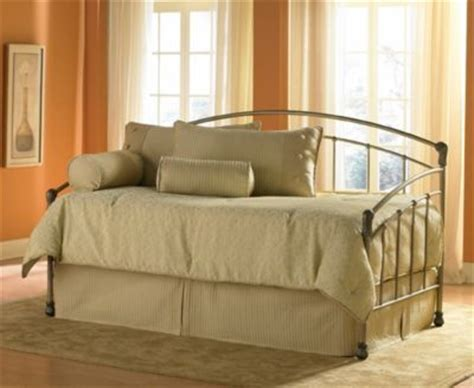 quot tuxedo quot metal finish daybed with optional trundle