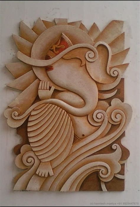 ceramic tile wood wall relief