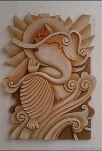 Wall relief art