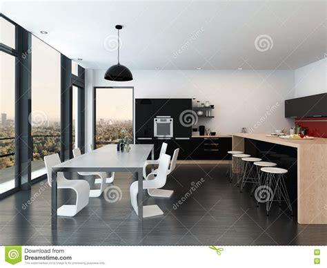 plan cuisine ouverte salle manger cuisine moderne ouverte sur sejour