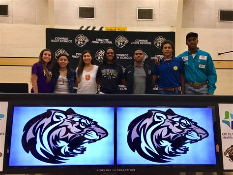 athletics athletes celebrate signings conroe courier