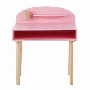 Maison Du Monde Bureau Fille : bureau enfant en bois rose l 70 cm nuage maisons du monde ~ Teatrodelosmanantiales.com Idées de Décoration