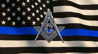 Thin Line Flag Masonic Animated Freemason