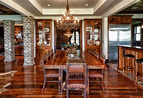 Rustic Dining Chairs Dining Room Eclectic With Arched