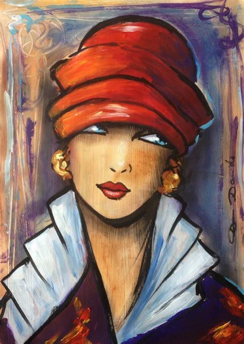 quot sometimes quot peinture 29x40 cm par dam domido portrait expressionniste d inspiration
