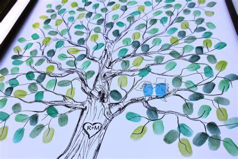 original wedding gift thumbprint guest book tree wedding tree guestbook ideas fingerprint
