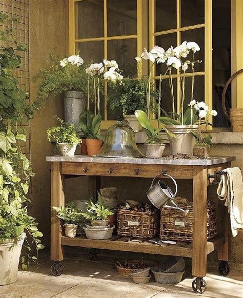 potting bench outdoor garden