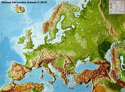 Europe Map European Relief Animated Continent Historical