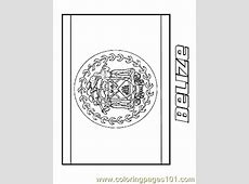 Belize Coloring Page Free Flags Coloring Pages