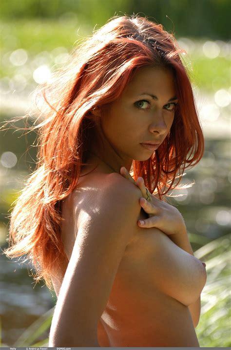 Olga Merkulova Is A Sensual Sexy Redhead Making Nude Art