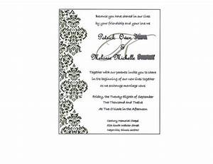 Wedding invitation wording wedding invitations templates for Wedding invitation templates for publisher 2010