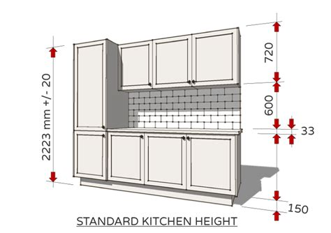 Kitchen Unit Measurements by Standard Dimensions For Australian Kitchens From Kitchen