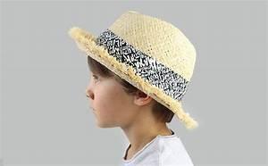 Chapeau De Paille Enfant : chapeau paille enfant ruban critures chapeau dodo black ~ Melissatoandfro.com Idées de Décoration