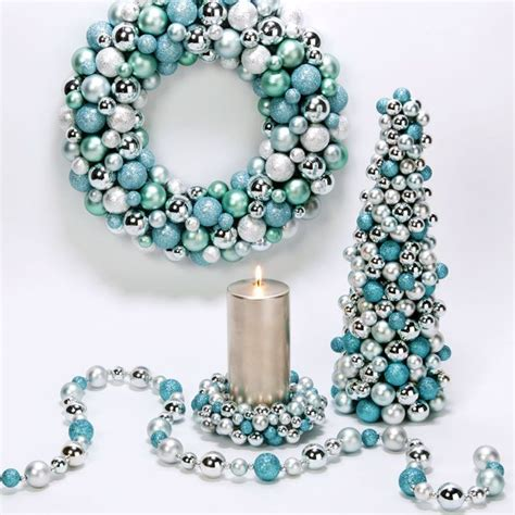 turquoise and silver decorations tiffany blue christmas decor christmas trees tabletop pinterest