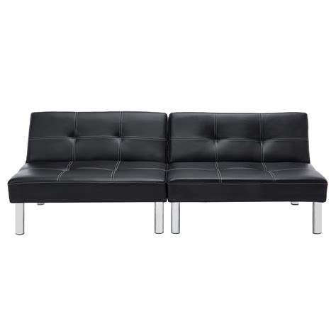 Leather Futon by Folding Leather Convertible Futon Sofa Bed Sleeper