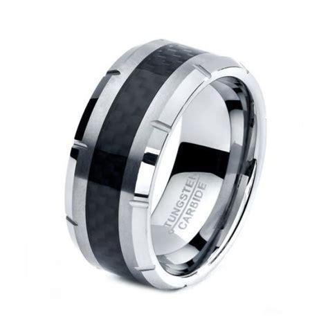 black tungsten ring black men tungsten rings black