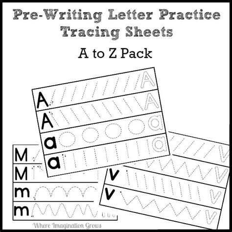 prewriting letter practice pack a to z paypal where 152 | prewriting practice printable preschool a to z
