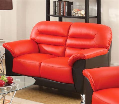 Black Faux Leather Loveseat by Asmund Modern Black Faux Leather Sofa Loveseat