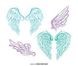 Realistic Angel Wings Vector