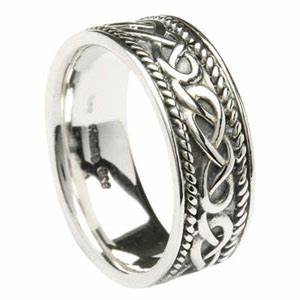 celtic knot wedding ring in sterling silver made in With celtic design wedding rings