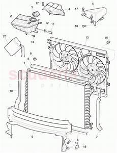 Bentley 3w0198115b  Coolant Radiator  Water Hoses  D