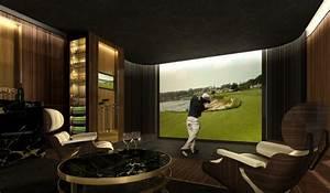 Luxury Home golf simulator rooms