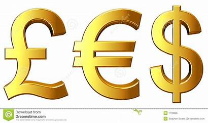 Money Symbols Royalty Euro Gold Background Illustration