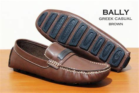 jual sepatu loafer pria santai gaul sepatu bally loafer moccasin kulit di lapak