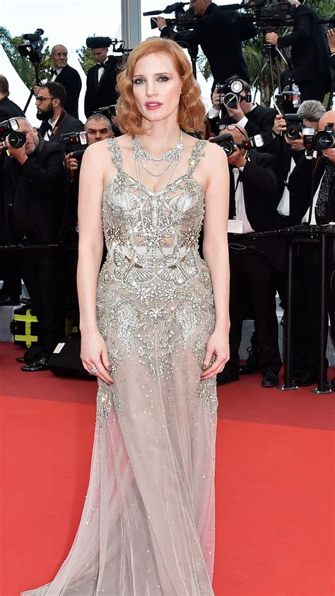 wallpaper jessica chastain cannes film festival  red