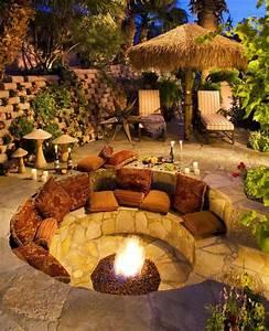 Senkgarten Mit Feuerstelle : 18 fire pit ideas for your backyard best of diy ideas ~ Buech-reservation.com Haus und Dekorationen