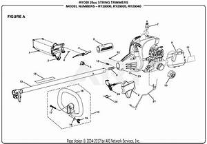 Homelite Ry28020 26cc String Trimmer Parts Diagram For