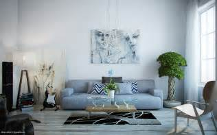 Denim Sofa Sectional by Light Filled Contemporary Living Rooms