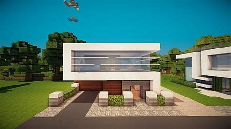 15 X 15 Lot Modern House Minecraft Project