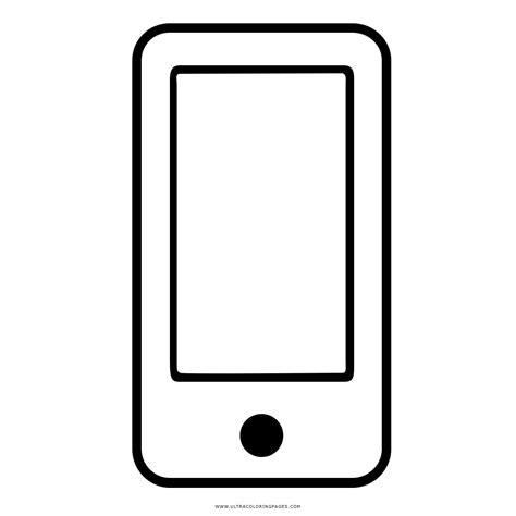 telefono da colorare dibujo de tel 233 fono inteligente para colorear ultra