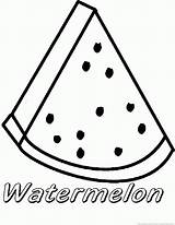 Watermelon Coloring Fruit Shopkin Template Lychee Templates sketch template