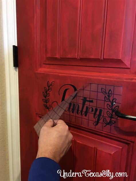 distressed pantry door diy   texas sky
