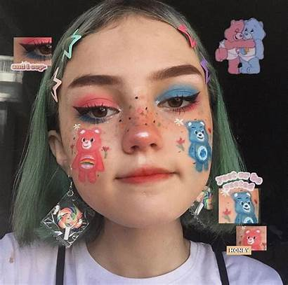 Aesthetic Makeup Edgy Looks Creative Soft Beauty