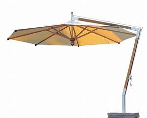 sonnenschirm fischer woodline o 400 cm rund wood edition With französischer balkon mit sonnenschirm 400