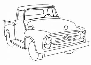 Old ford truck drawing at getdrawingscom free for for 1956 ford short bed